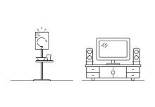 Living room furniture / outline