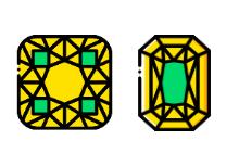 Precious Stones and Gems - Yellow